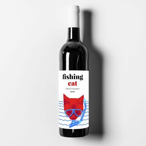 Design a modern wine label for a small new independent brand in India's emerging market (our wine bottled in Italy) Design by Mercedesfc