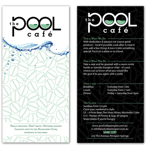 The Pool Cafe, help launch this business Diseño de Lukasmarcus