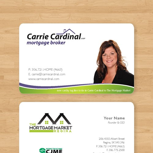 Business card stationery contest runner up design by malih reheart Choice Image