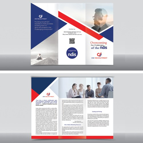 tri fold leaflet recruitment company in sydney australia