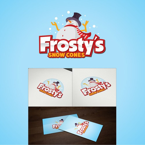In Need Of A Logo For Frostys Snow Cones A Snow Cone Trailer