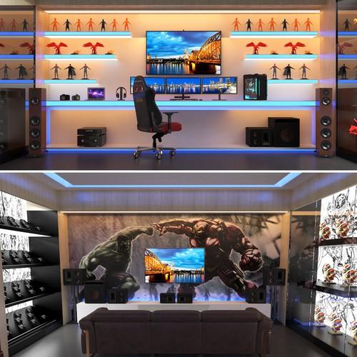 Gaming Room Best Setup 3d Contest 99designs