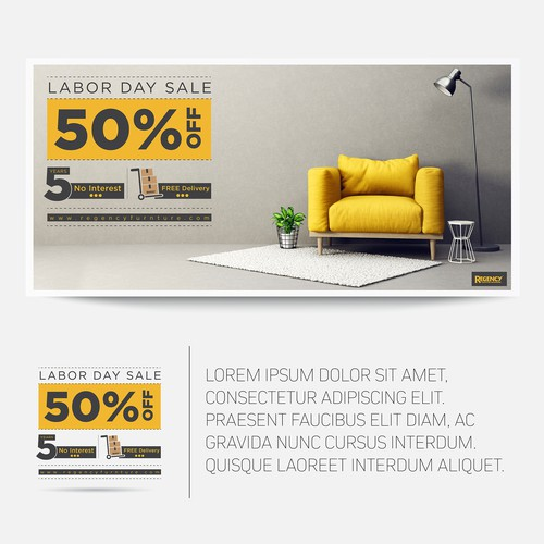Furniture Store Web Banner