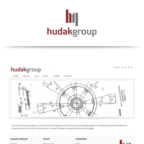 Logo and business card for hudak group logo business card contest runner up design by designdicate reheart Image collections