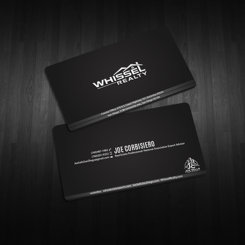 Slick unique high end real estate business card design business entries from this contest reheart Choice Image