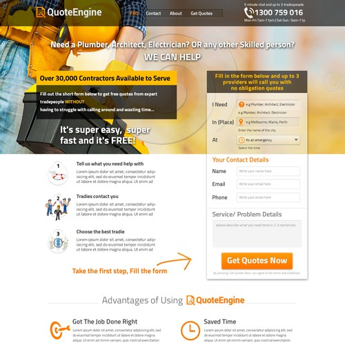 Re design existing home improvement home page to increase - Best home improvement website design ...