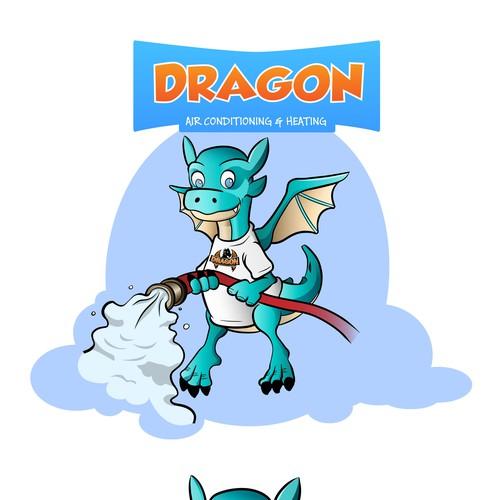 Cartoon Character Design Contest : Happy cartoon dragon character illustration or graphics