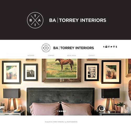Create a masculine chic logo for ba torrey interiors for Interior design 99designs