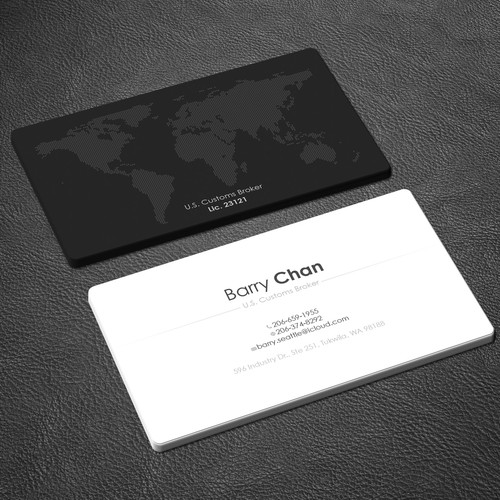 Create an eye catching and suggestive business card for a us runner up design by zayden colourmoves