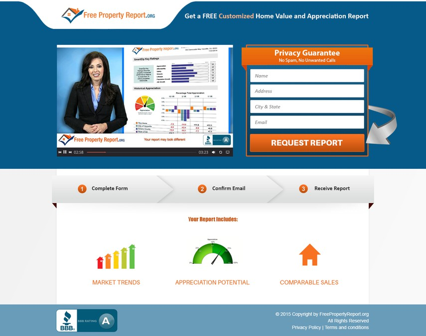 how to get free property site report