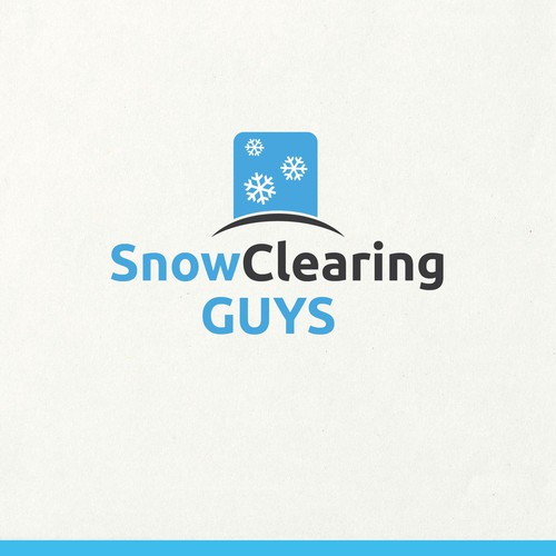 get the word out about premium snow clearing logo design