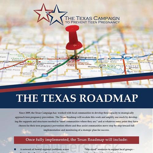 Texas Roadmap Promotional Flyer Postcard Flyer Or Print Contest - Texas roadmap