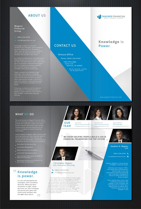 new brochure design wanted for wagner financial brochure contest