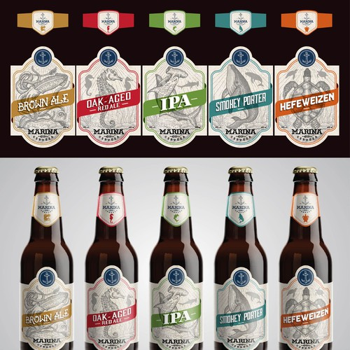 Create a vintage and timeless beer label for an up and coming mexican craft brewery! Ontwerp door MANTSA®