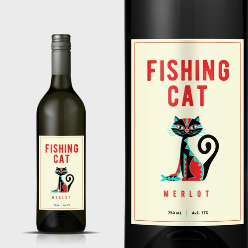 Design a modern wine label for a small new independent brand in India's emerging market (our wine bottled in Italy) Design by mata_hati