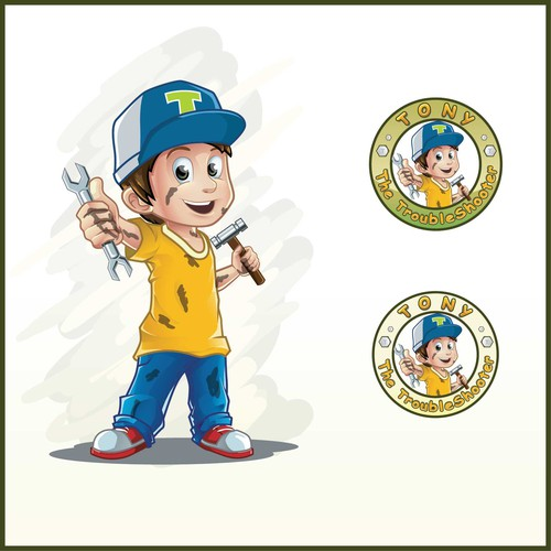 Design di Tony The Troubleshooter Character di Rozart ®
