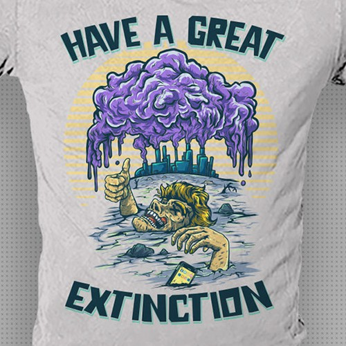 Funny T-shirt design for a serious subject. Design by dsgrapiko