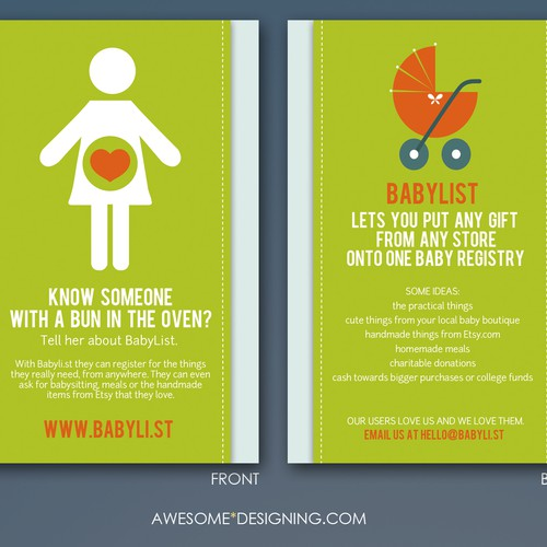 Create the next postcard or flyer for BabyList Design by Awesome Designing