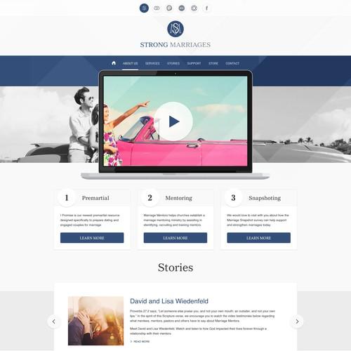 Diseño finalista de WebDesignJam
