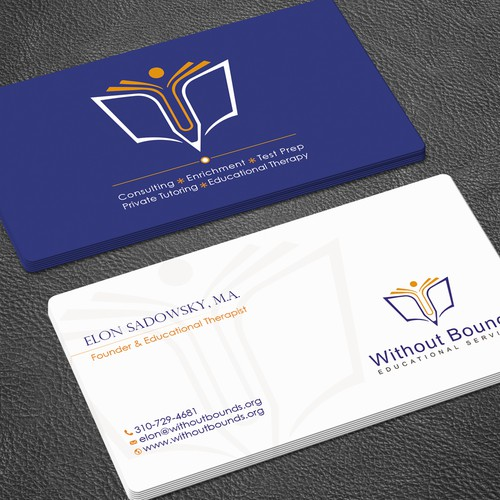 Business cards for without bounds concurso carto de visita design finalista por zayden reheart