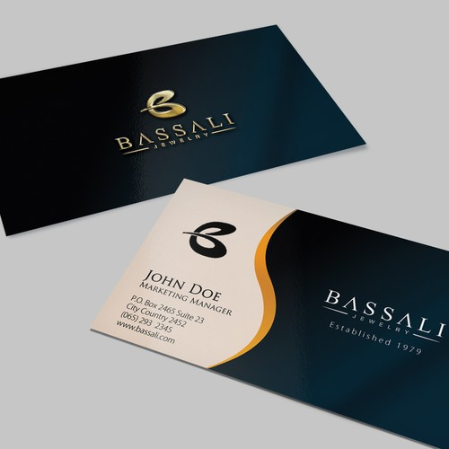 Luxurious elegant and sophisticated business card and letterhead entries from this contest colourmoves