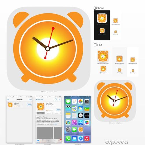 Alarm Clock App Icon | Icon or button contest