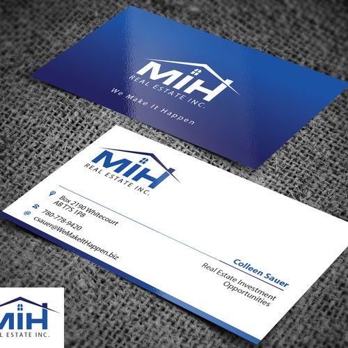 real estate investing business cards