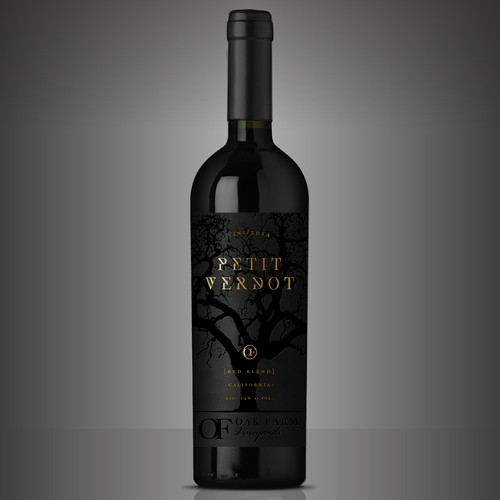 Design a new wine label for our new California red wine... Design by dguiraom