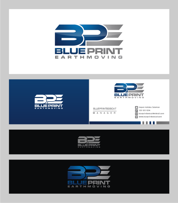 Logo and business card for blueprint earthmoving logo business winning design by dmash malvernweather Images