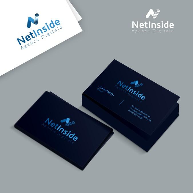 Logo Carte De Visite Pour Societe NetInside Une Agence Digital