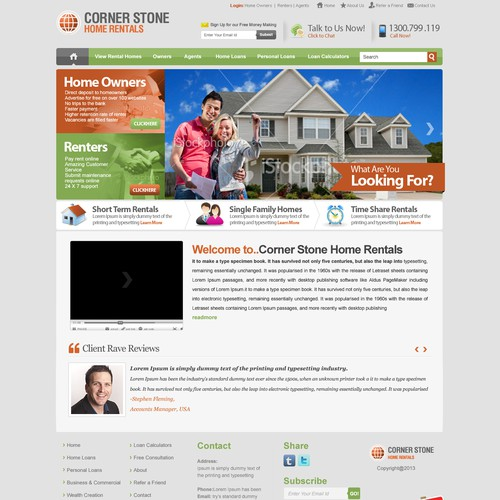 Website Design For Cornerstone Home Rentals Web Page Design Contest 99designs