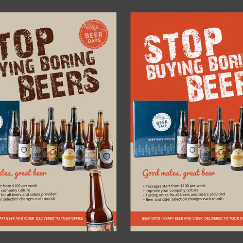 Design Flier for Craft Beer delivery service Design by AZ™