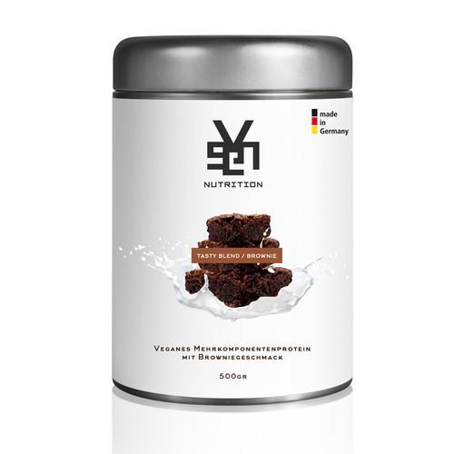 erstelle ein verpackungsdesign f r ein veganes proteinpulver product packaging contest. Black Bedroom Furniture Sets. Home Design Ideas