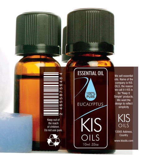 Simple Label For Essential Oil Bottle Print Or Packaging