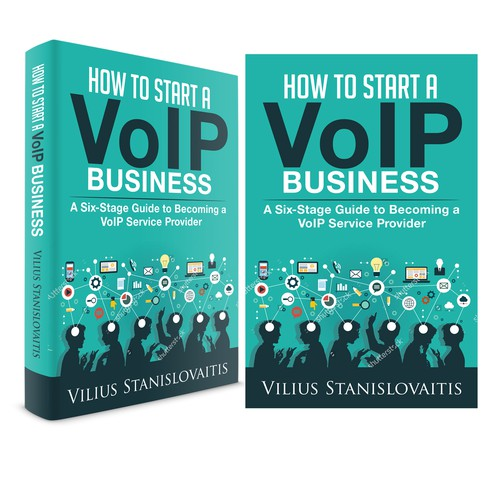 Business Book Cover Up : Design a cover for book how to start voip business