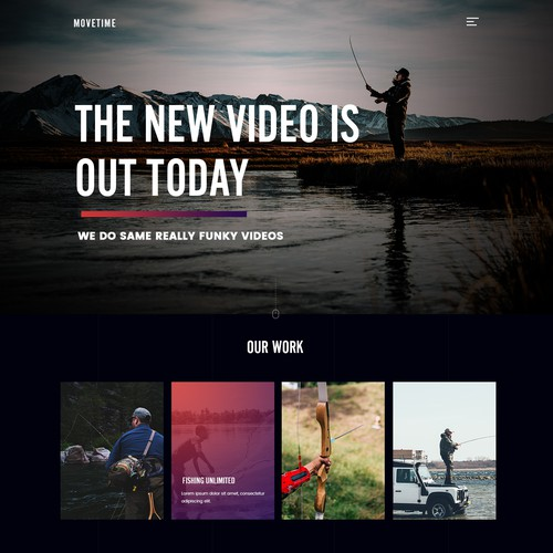 Video Production Company Website // Simplistic Design Design by Timefortheweb