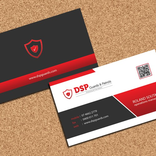 Security company business cards business card contest runner up design by innovative mania reheart Choice Image
