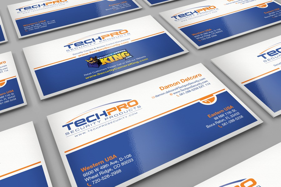 Techpro security business card re design business card contest winning design by rusko reheart Choice Image