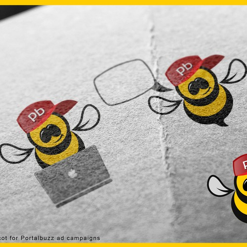 Create a bee mascot for Portalbuzz ad campaigns Design by 3D Mind