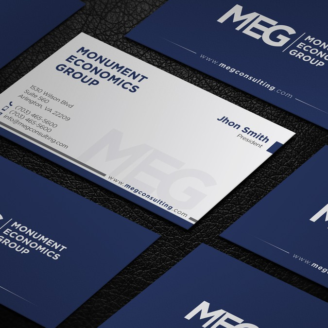 Professional and modern business card template for economic professional and modern business card template for economic consulting firm accmission Images