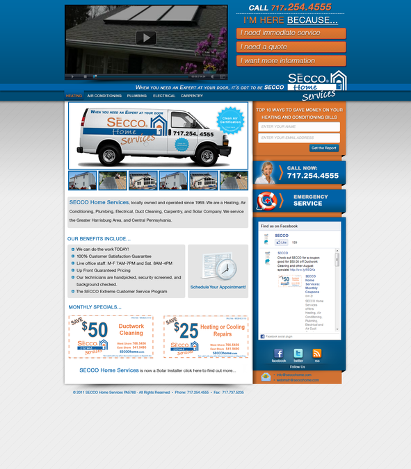 Wordpress theme for Heating/Air Conditioning Contractor