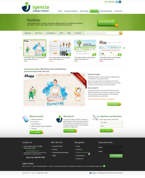 Winning design by WebBox