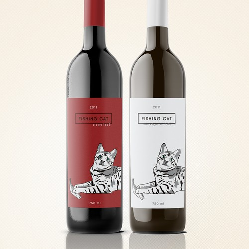 Design a modern wine label for a small new independent brand in India's emerging market (our wine bottled in Italy) Design by Anie Stassia