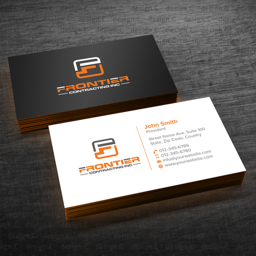 Simple but attractive business card business card contest runner up design by designc colourmoves