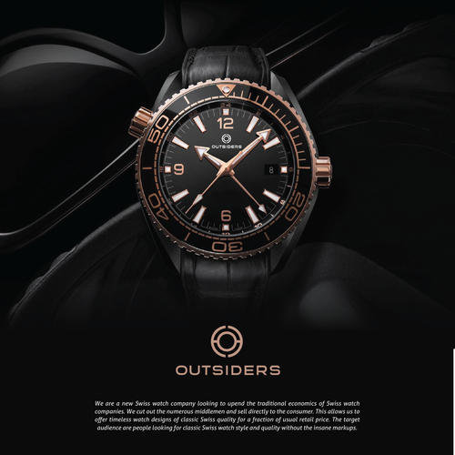 The disruptive new Outsiders Swiss watch brand needs a ...