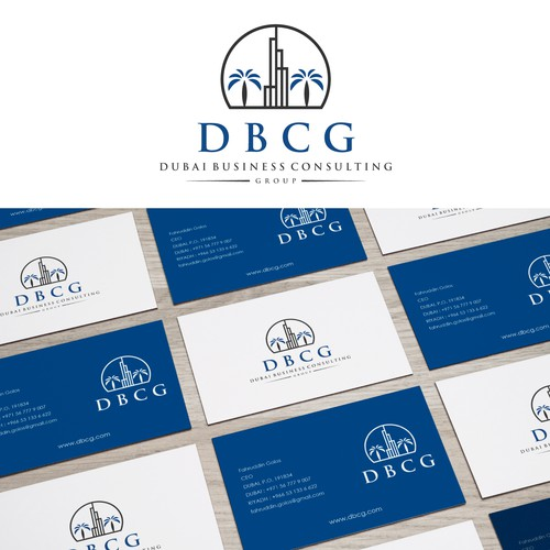 Dubai Business Consulting Group Logo Business Card Contest