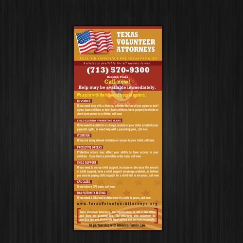Create a flyer for Texas Volunteer Attorneys | concurso