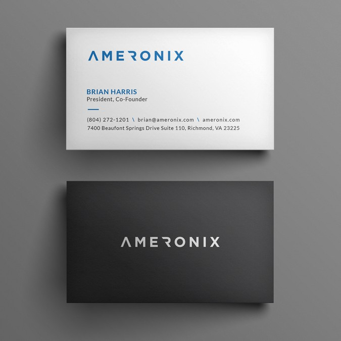 Ameronix rebranding a digital agency business card contest winning design by kendhie reheart Images