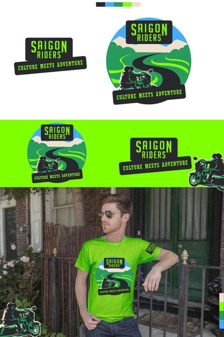 Saigon Riders is looking for a logo for their motorcycle tours. Their logo is in your hands. | Logo design contest