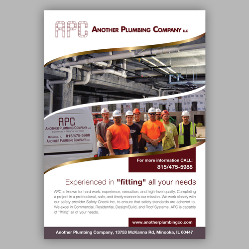 Plumbing Company Needs Professional Magazine Ad Other Book Or Magazine Contest 99designs